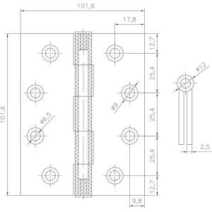 stainless steel gate hinges screw
