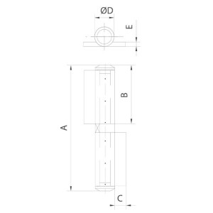 gate hinges flag hinge bearing