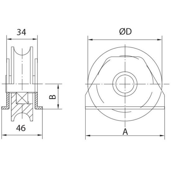 gate wheel to weld U 20