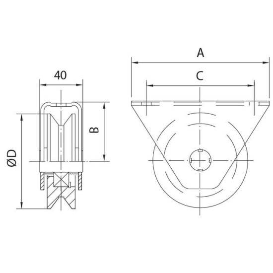 gate wheels box v
