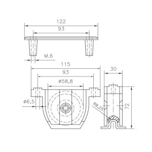 pvc sliding door gate wheels box