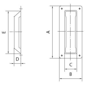 sliding door pull handle