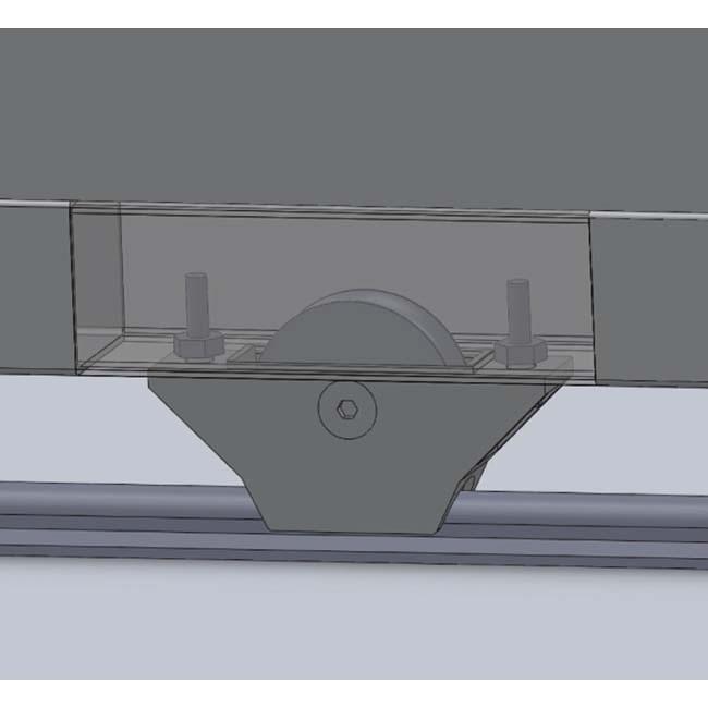 Door Hardware: Semi embed wheel Ø60