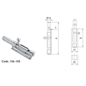 Door Bolt Short