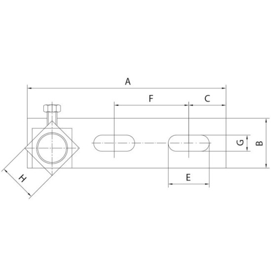 Door Hardware Hinge For Upper Angle With Plate