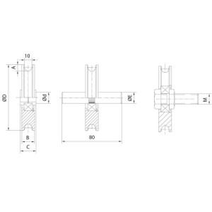 gate wheel nylon overhead doors