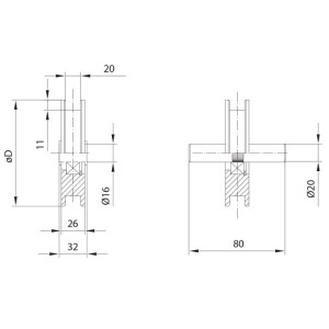 gate wheels squared 20 overhead door