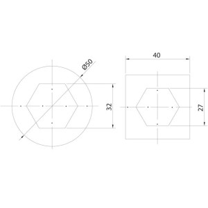 overhead door hexagonal plate