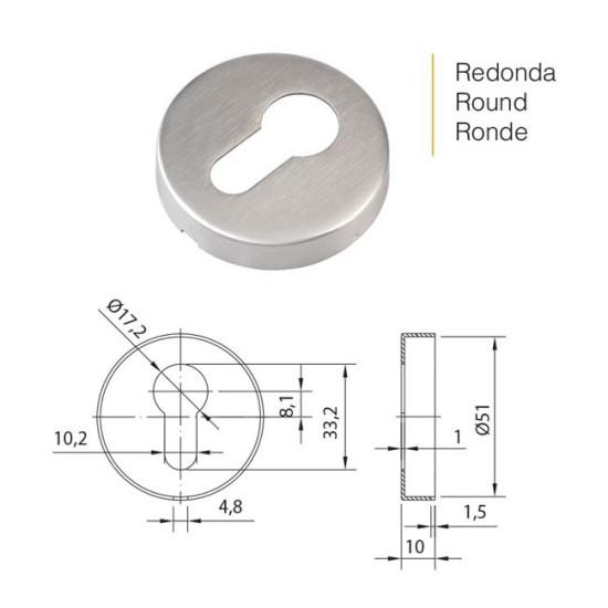 Round Escutcheon Stainless Steel
