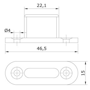 sliding door plastic guide