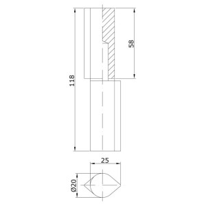 Gate Hinge Drop Profile Hinge