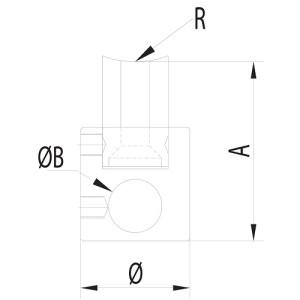 midrail tube connector handrails