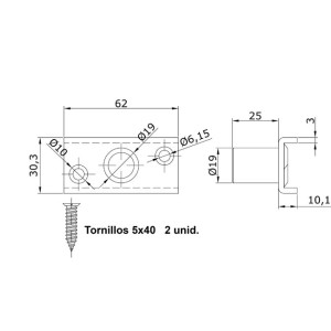 Sliding Door Guide Screw