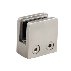 Stainless Steel Glass Clamp Squared Flat