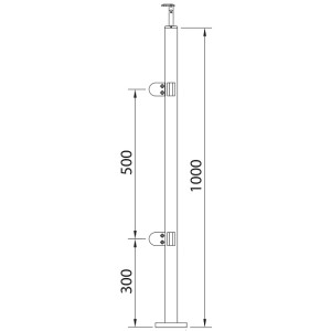Stainless Steel Posts 90 Glass Banister