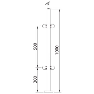 stainless steel posts glass balustrade 4