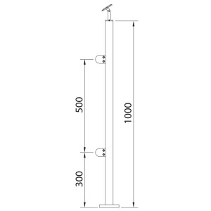 stainless steel posts glass clamps (2)