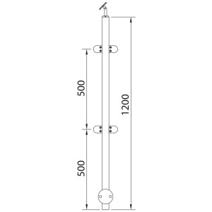 stainless steel posts glass clamps post wall 180