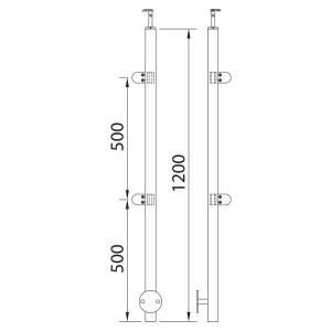 stainless steel posts glass clamps wall post