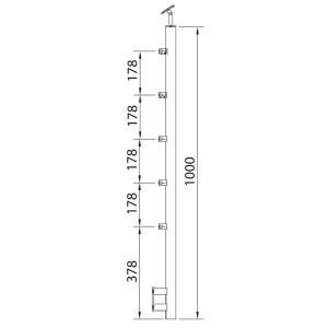 Arranque Pared 5 Soportes Varilla 12mm
