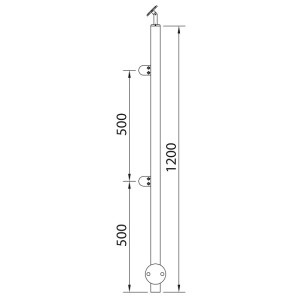 wall post stainless steel posts