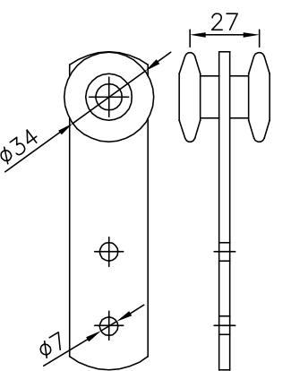 Sliding Door Simple Trolley Chain