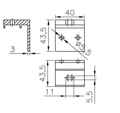 Rail Bracket For Sliding Gate