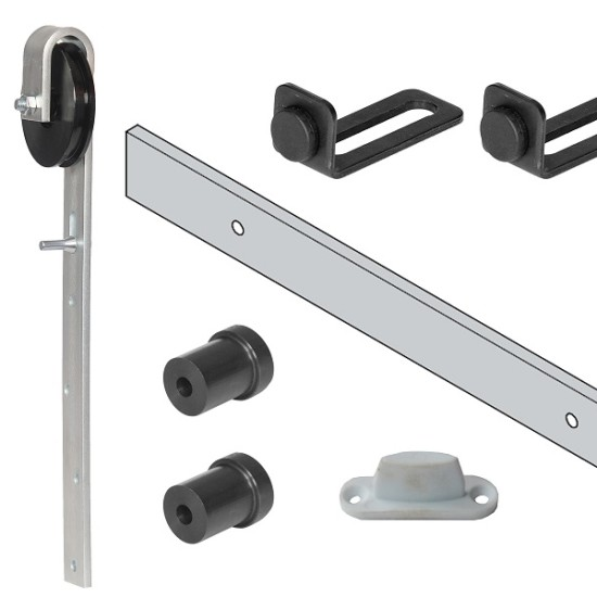 Sliding Barn Door Kit Nylon Wheel