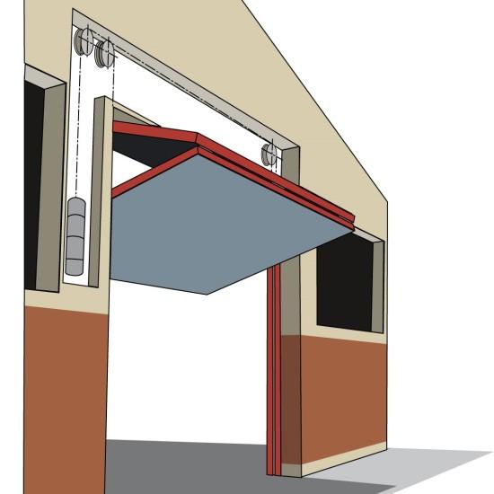 Overhead door hardware