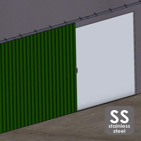 Stainless steel hanging sliding door's hardware