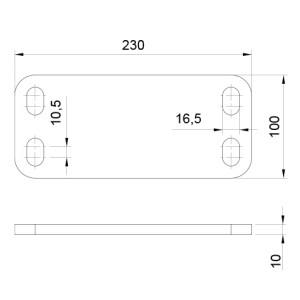 Chapa Regulacion Simple PLANO 8610C